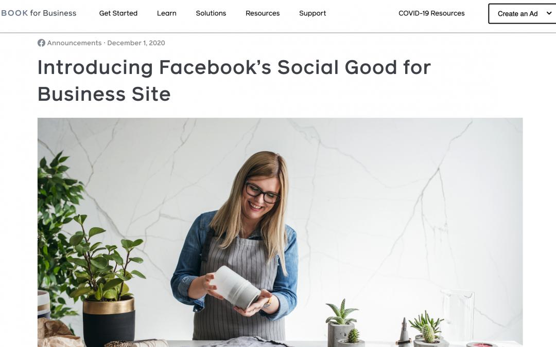Facebook lancia un nuovo sito web per aiutare le aziende a promuovere il loro impatto sociale